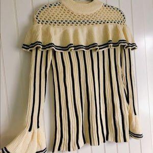 Self-portrait stripe knit sweater